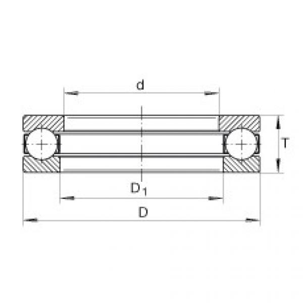 Axial deep groove ball bearings - GT38