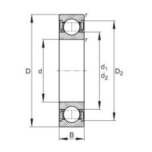 Deep groove ball bearings - 62205-2RSR
