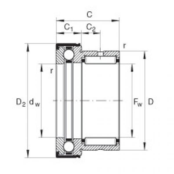 Needle roller/axial ball bearings - NKX30-Z-XL #1 image