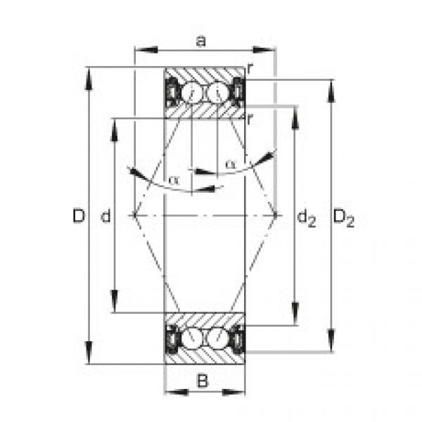 Angular contact ball bearings - 3805-B-2RZ-TVH #1 image