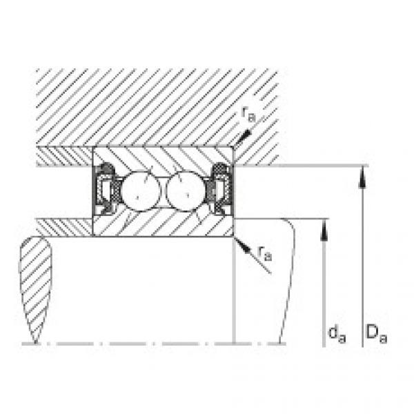 Angular contact ball bearings - 3805-B-2RZ-TVH #2 image