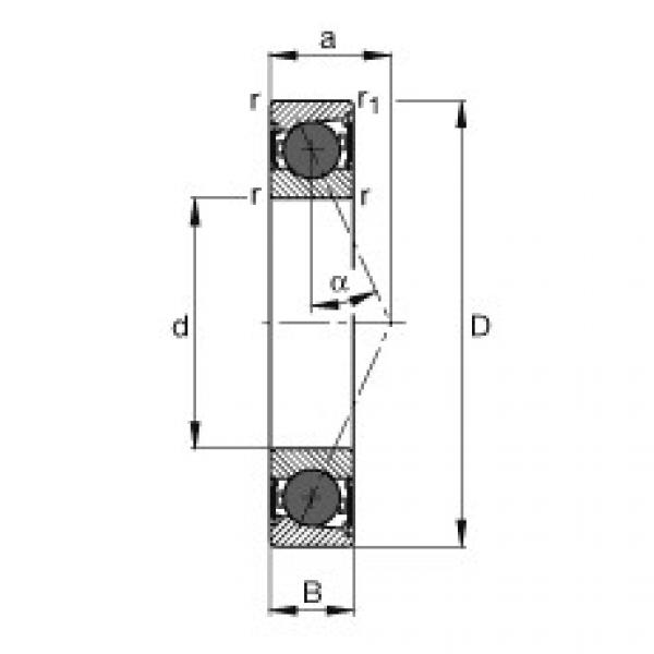 Spindle bearings - HCB7016-E-2RSD-T-P4S #1 image