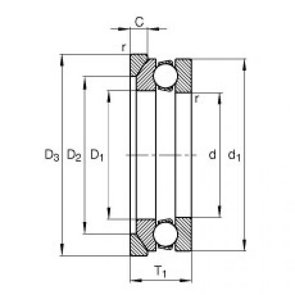 Axial deep groove ball bearings - 53200 + U200 #1 image