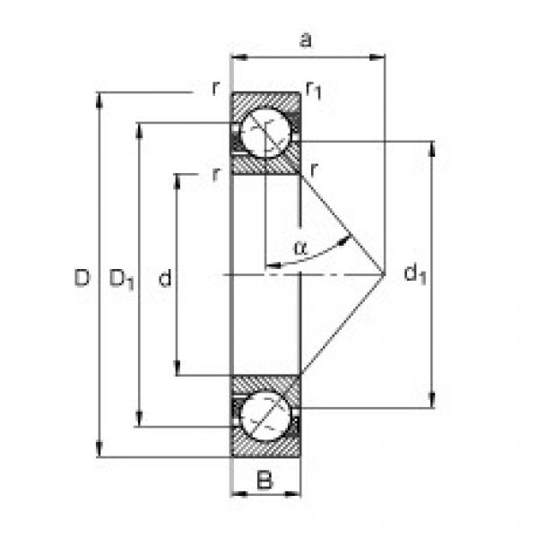 Angular contact ball bearings - 71812-B-TVH #1 image