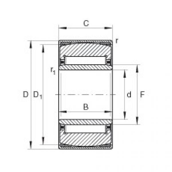 Aligning needle roller bearings - PNA30/52-XL