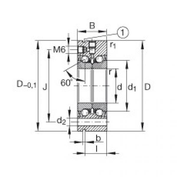 Axial angular contact ball bearings - ZKLF2068-2RS-XL