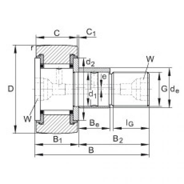 Stud type track rollers - KRE30-PP