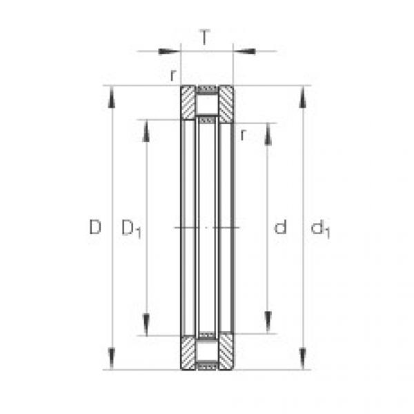 Axial cylindrical roller bearings - 81111-TV