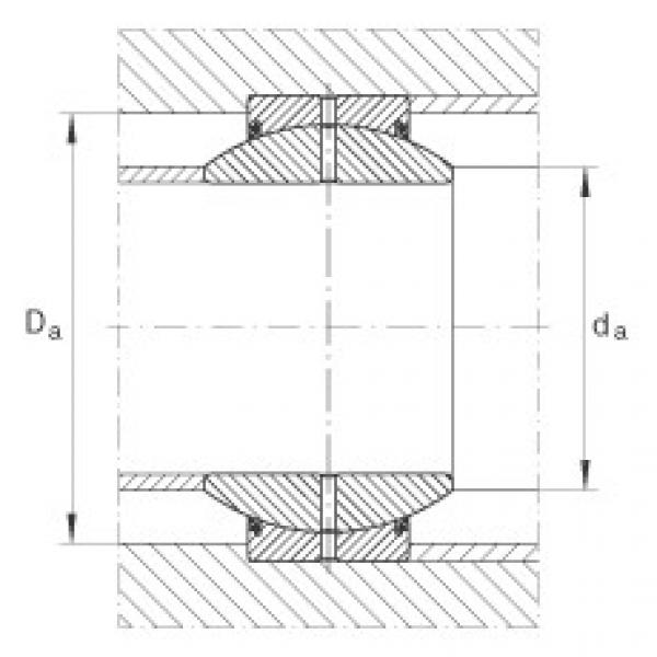 Radial spherical plain bearings - GE160-FO-2RS