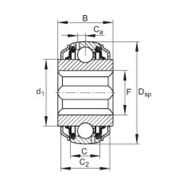 Self-aligning deep groove ball bearings - GVKE16-205-KRR-B-2C-AS2/V-AH01 #1 image