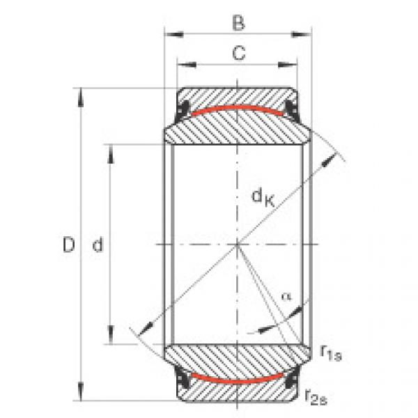 Radial spherical plain bearings - GE60-UK-2RS
