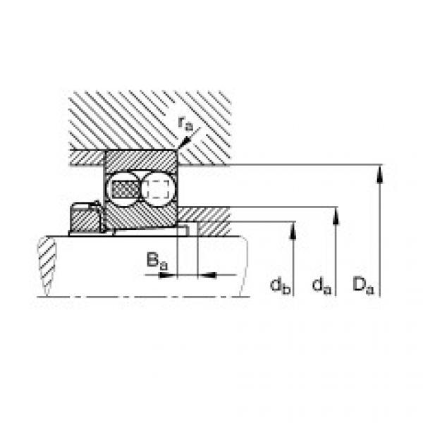 Self-aligning ball bearings - 1206-K-TVH-C3 + H206 #2 image