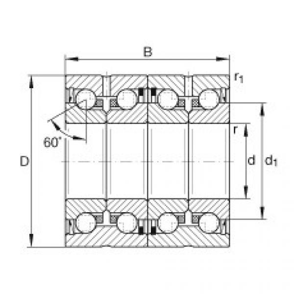 Axial angular contact ball bearings - ZKLN5090-2RS-2AP-XL