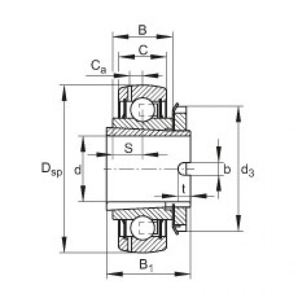 Radial insert ball bearings - GSH45-XL-2RSR-B