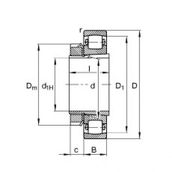Barrel roller bearings - 20206-K-TVP-C3 + H206 #1 image