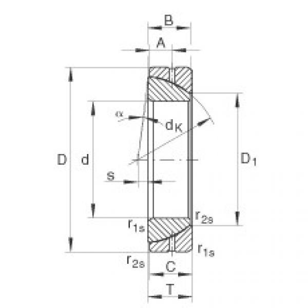 Angular contact spherical plain bearings - GE100-SX