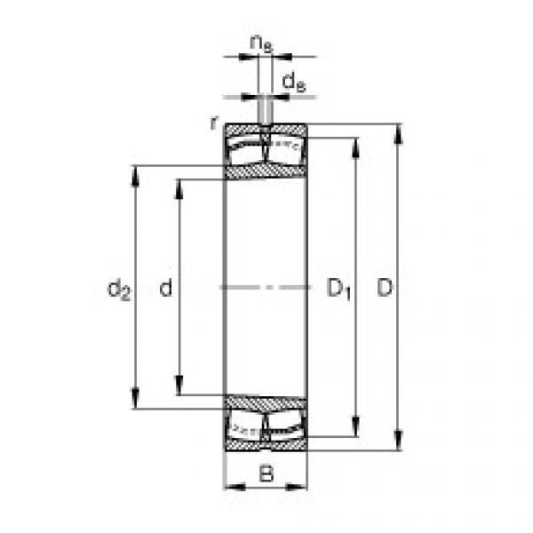 Spherical roller bearings - 22318-E1-XL-K-T41A