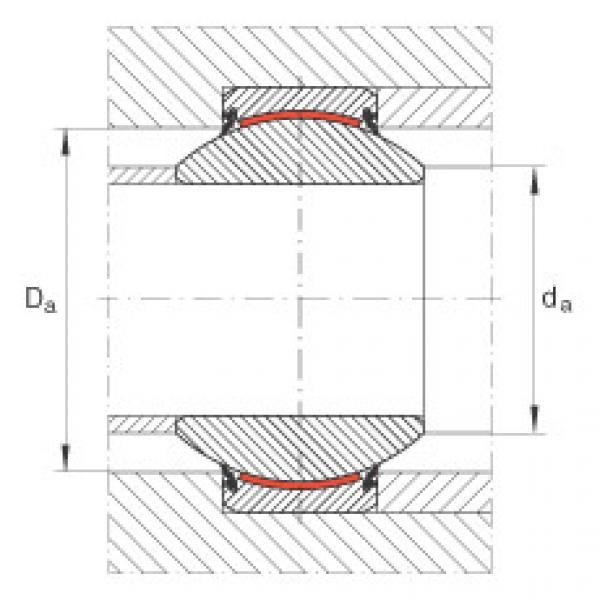 Radial spherical plain bearings - GE100-FW-2RS #2 image
