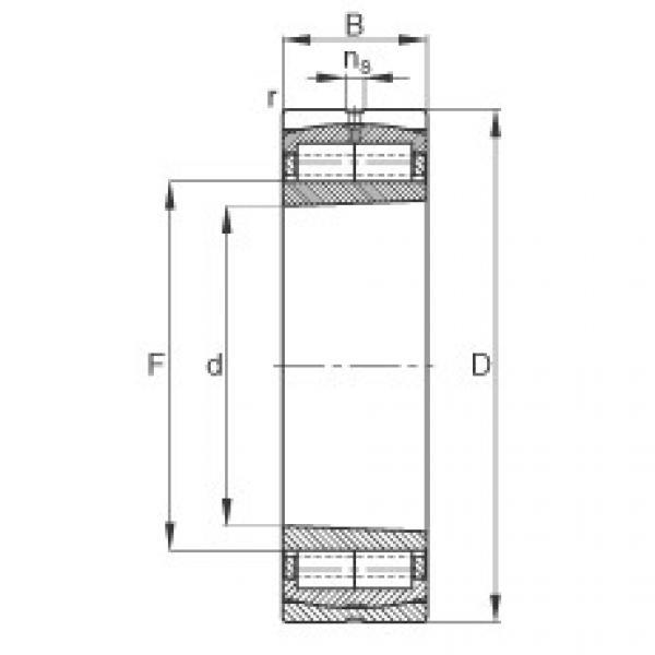 Cylindrical roller bearings - F-800593.ZL-K-C5 #1 image