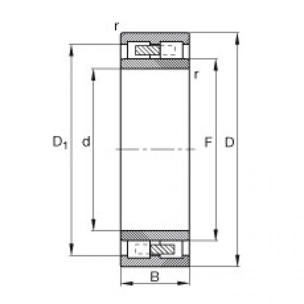 Cylindrical roller bearings - NNU4138-M #1 image