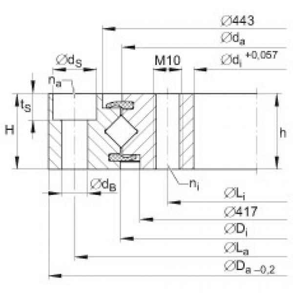 Crossed roller bearings - XU080430