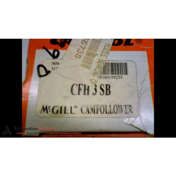 "MCGILL CFH 3 SB, CAM FOLLOWER,  3.0"" X 1.75"" X 1.5"" DIMENSIONS, NEW #164267"
