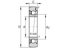 Track rollers - LR203-2RSR