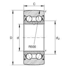 Track rollers - LR50/8-2RSR