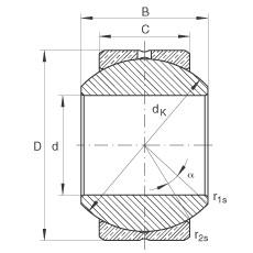 Radial spherical plain bearings - GE14-PB