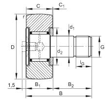 Stud type track rollers - KR19