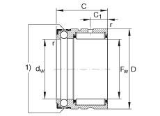 Needle roller/axial ball bearings - NX20-XL