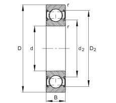 Deep groove ball bearings - 6201-C-2HRS