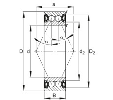 Angular contact ball bearings - 3005-B-2RZ-TVH