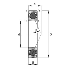 Spindle bearings - HCB71900-E-2RSD-T-P4S