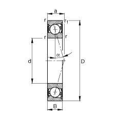 Spindle bearings - B7202-C-2RSD-T-P4S