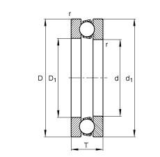 Axial deep groove ball bearings - 511/530-MP