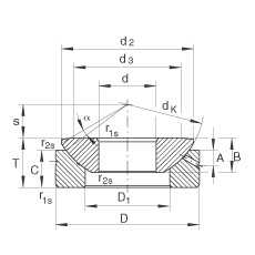 Axial spherical plain bearings - GE10-AX