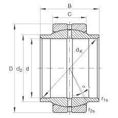 Radial spherical plain bearings - GE320-LO