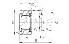 Stud type track rollers - KR32-PP