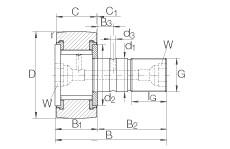 Stud type track rollers - KRV35-PP