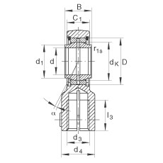 Hydraulic rod ends - GIHNRK20-LO