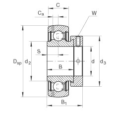 Radial insert ball bearings - GRAE15-XL-NPP-B