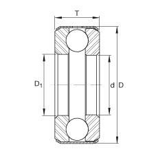 Axial deep groove ball bearings - D10
