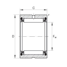 Needle roller bearings - RNA4903-2RSR-XL