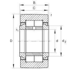 Yoke type track rollers - NUTR17