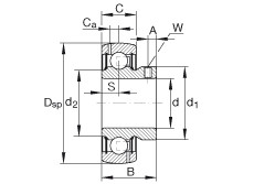 Radial insert ball bearings - GAY100-NPP-B-AS2/V
