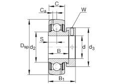 Radial insert ball bearings - GRA012-NPP-B-AS2/V