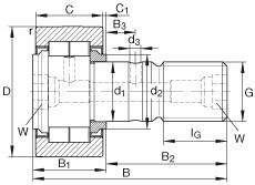 Stud type track rollers - NUKR35