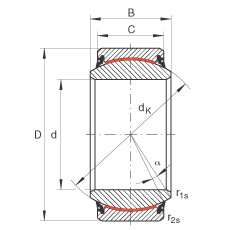 Radial spherical plain bearings - GE17-UK-2RS