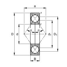 Four point contact bearings - QJ305-XL-TVP